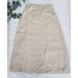 J. JILL Soft Long Modesty Tan Skirt 8